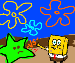 starfish versus spongebob squerepants