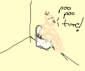 man says it's poo poo time.