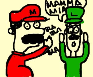 mario tells luigi a top secret