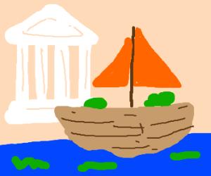 Grecee boat