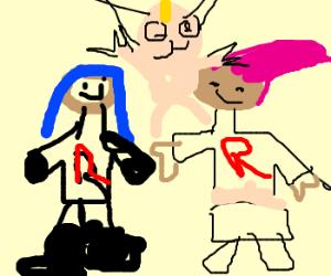 Team Rocket painted by a 3 yo kid