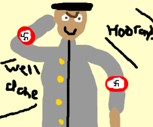swastika man becomes our hero
