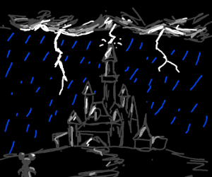 It's raining in Disneyland