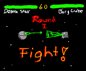 The Death Star vs. a Borg Cube