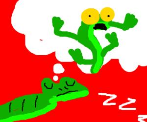 Snake dreams of growing legs