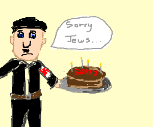 hitler apologises to jews with cake