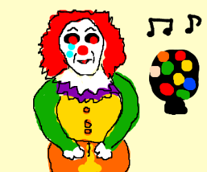 Scary clown messes pants at the disco
