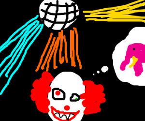 Pennywise is in drugs and dancing in a disco
