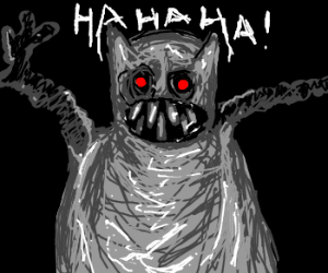 SkiFree's snow monster laughs at you