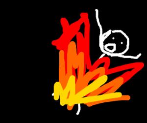 Heartbreak for burning man