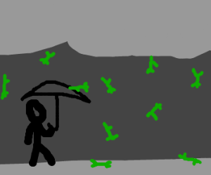 It's raining little green men!