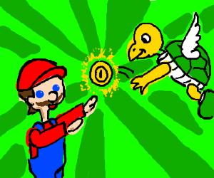 Mario have a coin