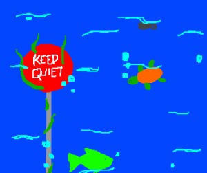 """""""keep quiet!"""" sign in an unexpected place"""