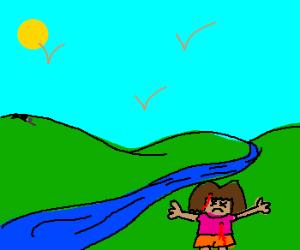 Dora the Explorer killed by a sniper