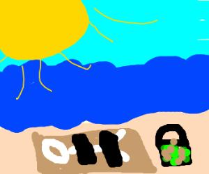 naked sunbather with moldyjunk