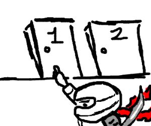 Snow Ninja chooses door number 1