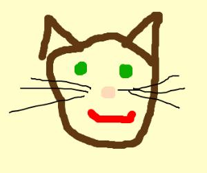 Creepy green-eyed cat.