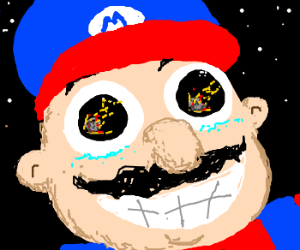 Mario excited about imminent meteor