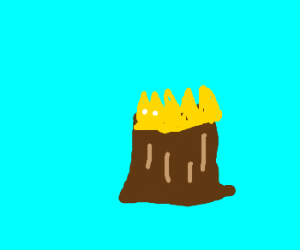 tiara on a stump