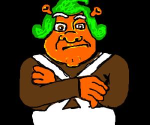 Oompa Loompa-Shrek hybrid