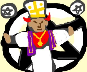 Pentagram demon pope