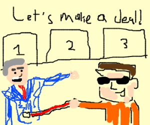 blind guy playing Let's make a deal!