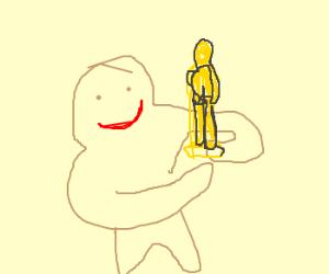Gingerbread man wins Oscar.