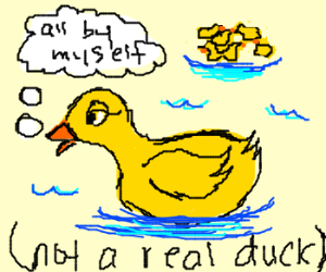 A lonely bath duck