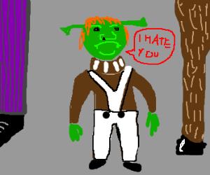 Oompa Loompa Shrek is angry at donkey