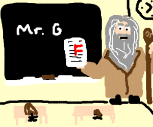 Gandalf is a teacher (NONE shall pass)