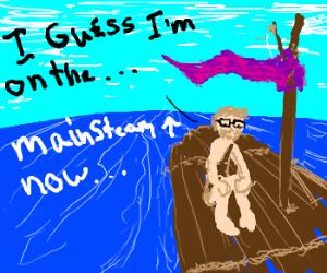 Ironic hipster shipwreck