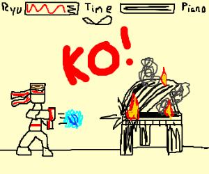 Ryu defeats grand piano