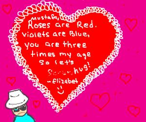 Elisabet gives Mustafa a Valentine