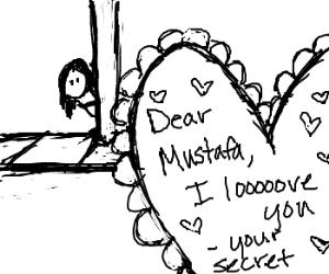 Elizabet sends a Valentine to Mustafa