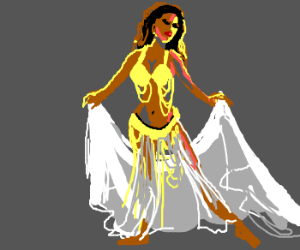 A magnificent belly dancer