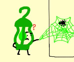 Green Lantern Makes Green Spider Web
