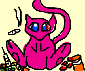 Mew on drugs, lots of drugs :s