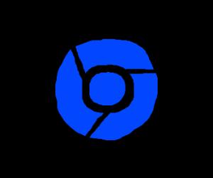 blue google chrome