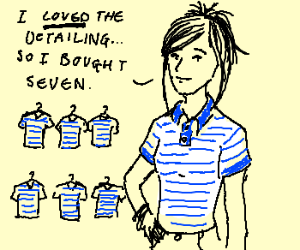 girls love blue and white striped polo shirts