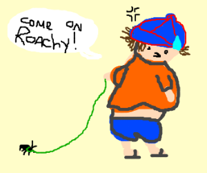 Pet cockroach called Roachy