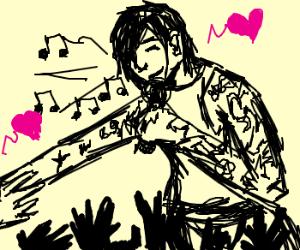 Tatoo singer in love