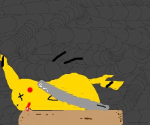 picakchu snapped on a rat trap