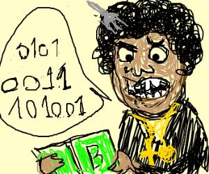 Black Man is learning Binary