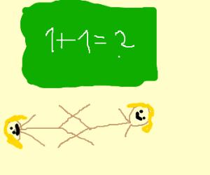 strange math. lesbian math?