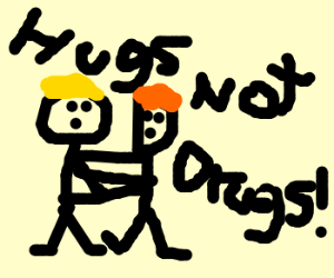 Two man hugging
