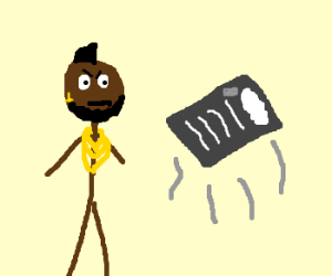 Mr t with levitating tray of cocaine lines