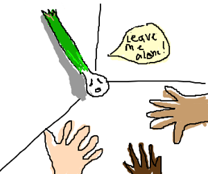No one will leave green onion alone