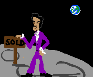 Artist (formerly) Prince, now owns the moon.