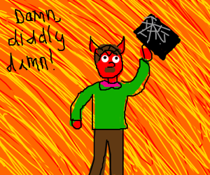 Devil Ned Flanders smashes his iPad