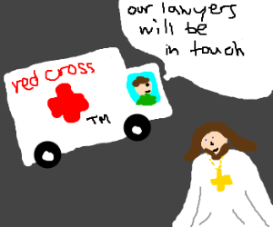 RedCross sues Jesus for copyright infringement
